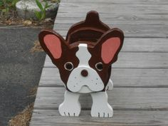 """Brownie"" Boston Terrier planter box"