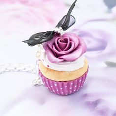 bijou fimo collier sautoir cupcake : Collier par grain-de-delice