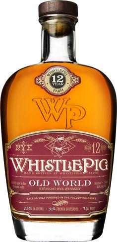 WhistlePig 12 Year Old World Cask Rye Whiskey Cigars And Whiskey, Scotch Whiskey, Bourbon Whiskey, Whiskey Bottle, Oldest Whiskey, Whiskey Glasses, Wine And Liquor, Liquor Bottles, Wine And Beer