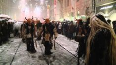 Around 300 scary, dark figures strolled around the Grazer Krampuslauf and were accompanied by a heavy snowfall and numerous visitors through the Grazer Herre. Pagan Christmas, Winter Holidays, Loki, Places, Youtube, Travel, Graz, Viajes, Destinations