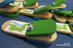 Kids Favors [Part1]: DIY Tick-Tock Croc [Musical Clappers w/ Googly Eyes]