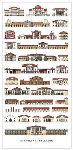 Big Palladio print The Villas of Palladio signed by by pallade