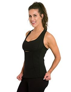 5ea3f46d8f Delfin Spa Women s Heat Maximizing Underbust Racerback Exercise Tank – Petite  thru Plus