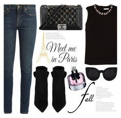 """""""I Love Paris In the Fall"""" by fattie-zara ❤ liked on Polyvore featuring Yves Saint Laurent, Wall Pops!, Erdem, Chanel and fallgetaway"""