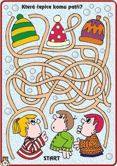 (2015-04) Hatte, svær Mazes For Kids, Art For Kids, Educational Games For Kids, Kids Learning, Maze Worksheet, Maze Puzzles, Maze Game, Labyrinth, Grande Section
