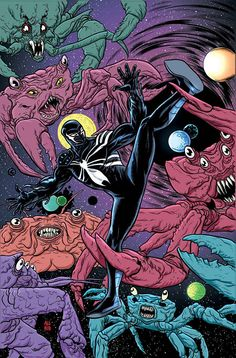 Venom: Space Knight #2 by Mike Allred *