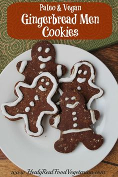 Paleo Vegan Gingerbread Cookies @ Healy Eats Real. Click here for the recipe: http://www.healyeatsreal.com/paleo-vegan-gingerbread-cookies/ #gingerbread #paleo #vegan #gingerbreadmen