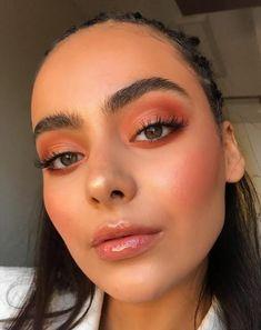 Orange Makeup, Pink Makeup, Glam Makeup, Hair Makeup, Makeup Trends, Makeup Inspo, Makeup Inspiration, Makeup Tips, Makeup Ideas