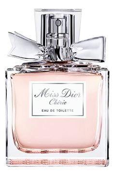 Dior 'Miss Dior Chérie' Eau de Toilette Spray #Nordstrom - it doesn't really matter how it smells, but i'm obsessed w/perfume bottles, and this is one of them.