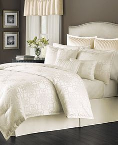 Martha Stewart Collection Savannah Scroll Ivory 22-Pc. Comforter Sets, Only at Macy's - Bed in a Bag - Bed & Bath - Macy's