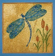 Or Nue Dragonfly - new or nue goldwork embroidery kit from www.alisoncoleembroidery.com.au