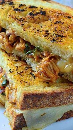BBQ Chicken Grilled Cheese Sandwiches Recipe