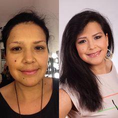 Maquillaje antes y después --- Make - Up vorher und später !!!❤️❤️❤️