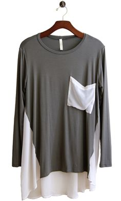 The Dressy-Casual Tunic - Conversation Pieces - I like this.  Maybe top like this and matching skirt in the light color.