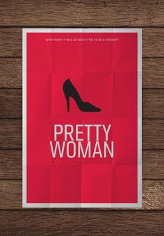 Pretty Woman Movie Poster by Pedro Vidotto Famous Movie Posters, Minimal Movie Posters, Minimal Poster, Movie Poster Art, Cool Posters, Films Cinema, Cinema Posters, Film Posters, Pretty Woman Movie