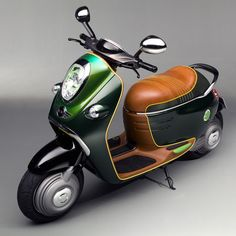 London Design Festival 2010: this electric scooter (above) is one of three concept scooters unveiled by car brand MINI in London yesterday. The Scooter E Concept includes three designs for electric scooters: a double seat in racing green and leather (top), a more sporty version with a single-seat (below) and a third with styling inspired