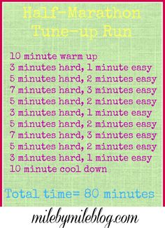 Get ready for  a half marathon by following this workout that will fly by! #running #halfmarathon #training