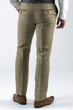 Casual Man Plaid Pants for 2018 Slim Fit Dress Pants, Slim Fit Trousers, Trouser Suits, Men's Fashion, Mens Fashion Suits, Mens Suits, Checkered Trousers, Tweed Trousers, Plaid Pants