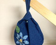 Japanese Knot Bag  Hydrangeas