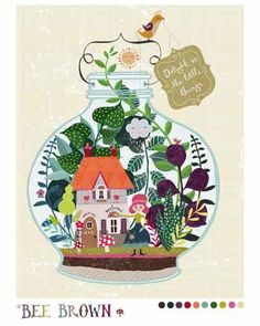 Terrarium Home, illustration Bee Brown, semifinalist Global Talent Search 2014