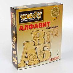 """Woody Набор букв """"Алфавит"""", 33 деревянных элемента"""
