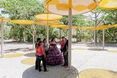 Botanical Garden, Culiacan Mexico – Tatiana Bilbao S. Bilbao, Garden S, Botanical Gardens, New Art, Wind Chimes, Garden Design, Flora, Mexico, Patio