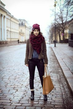 an outfit, which was inspired by London Street Style.