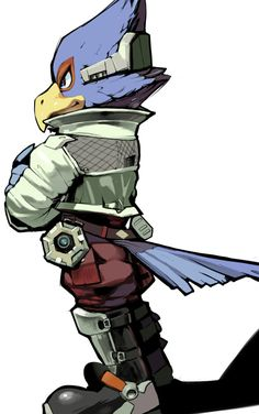 """Falco from the Starfox Series. """"Playing the hero again, eh Foxie?"""""""