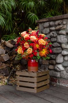 Teleflora's Heirloom Crock Bouquet | Thanksgiving Flowers | Fall Flowers | #teleflora #flowers Church Flowers, Fall Flowers, Love Flowers, Fall Bouquets, Floral Bouquets, Flower Arrangement, Floral Arrangements, Teleflora Flowers, Thanksgiving Flowers