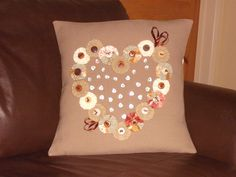 Hand Sewn Appliqued Cushion Cover by Blandsgill on Etsy, £10.00