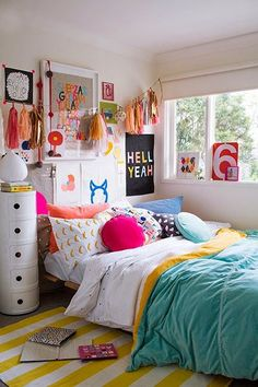The more (color, pillows, fun stuff) the merrier! #estella #kids #decor
