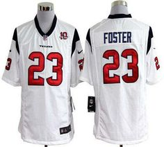 fb9a4f5ed4c21 Ver más. Nike Texans  23 Arian Foster White With 10th Patch Men s Stitched  NFL Game Jersey Camisetas