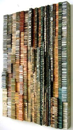 "Wood art ""Striations"" by Stephen Walling"