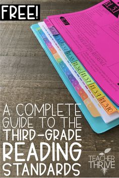 A complete guide to the third grade reading standards for fiction and nonfiction. Reading Lessons, Teaching Reading, Teaching Ideas, Math Lessons, Guided Reading Binder, Guided Reading Organization, Reading Lesson Plans, Teaching Vocabulary, Student Teaching