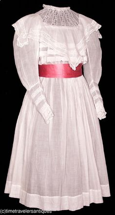 girls dress, 1900