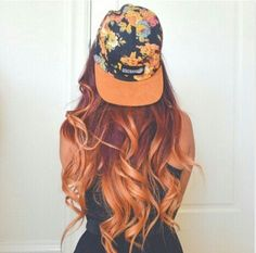 Burgundy to copper ombre.  This WILL be my hair next summer.