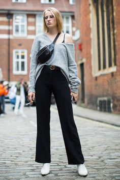 Models at London Fashion Week Spring 2017 - Street Fashion