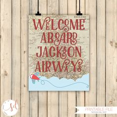 Vintage Travel Airplane Birthday Welcome Sign, Welcome Aboard Sign, Around the World Theme Decor, Baby Shower Decor, Old Maps Decor, Digital by SquishyDesignsbyMe on Etsy