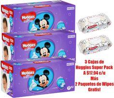 En Target puedes conseguir 3 Cajas de Huggies Super Pack a solo $17.94 cada una con 2 paquetes de Huggies Baby Wipes Gratis. Para realizar ...