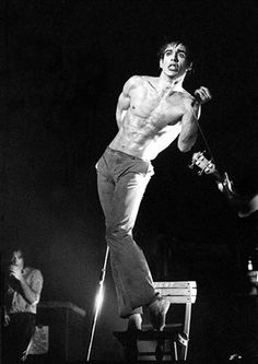 Credit: Howard Barlow Iggy Pop at the Manchester Apollo in September 1977 Iggy Pop, No Wave, Alter Ego, Iggy And The Stooges, Male Icon, Classic Monsters, Rock Legends, Music Icon, Poses