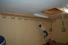 Monkey bars on ceiling