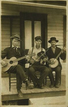 Antique Photo - Front Porch String Band