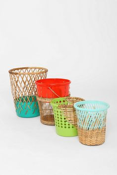 Half-Weave Contrast Top Trash Can - aren't these amazing!