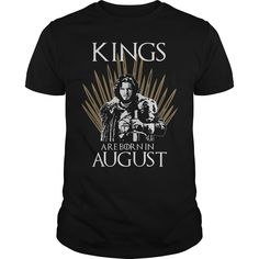 Kings are born in August Game of Thrones shirt. August coming oh no another birthday but the words so true on this shirt some don't get my sense of humor the mouth I can't control people just losing their sense of humor! Is your birthday in August? Then this shirt is perfect for you. Available until July 30th only. Custom bleached in California on 100% cotton tees. The logo is bleached into the shirt for the most comfortable feel.