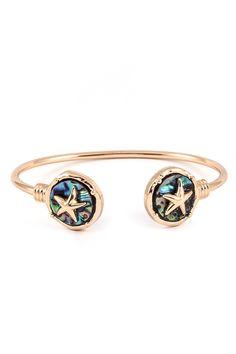 Starfish Bracelet in Abalone Enchantment