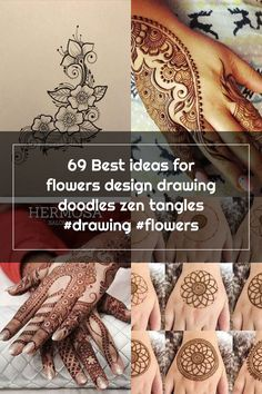 69 Best ideas for flowers design drawing doodles zen tangles #drawing #flowers Zen Tangles, Drawing Flowers, Henna Patterns, Hand Henna, Designs To Draw, Tangled, Hand Tattoos, Flower Designs, Doodles