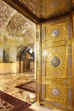 Dar-al-Soroor Porch ,Imam Reza shrine, Mashhad, Iran (Islamic Art)