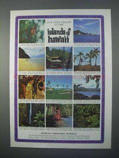 1966 Hawaii Visitors Bureau Ad - Live Your Dreams