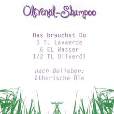 Olivenöl-Shampoo DIY Haarpflege selber machen http://www.diecheckerin.de/ganz-einfach-haarpflege-selber-machen/