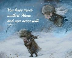 You have never walked alone... and you never will..... Guardian Angel. Grief. Mourning. Loss. Death., Nino Chakvetadze